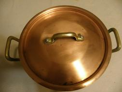 Vintage copper stockpot, marked & made In France